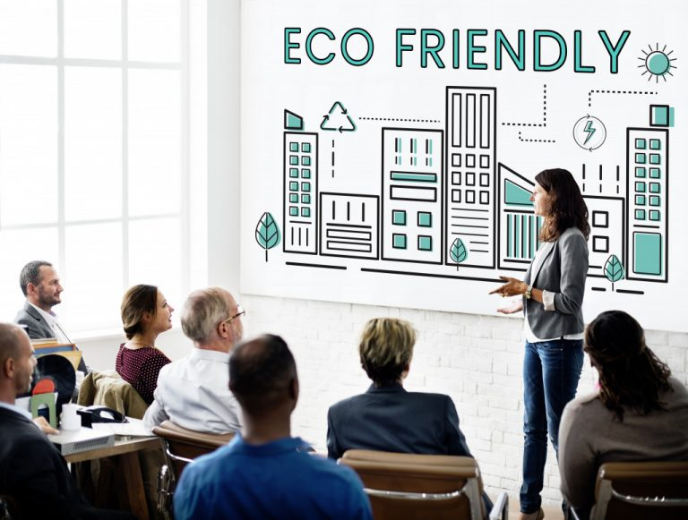 Eco-friendly concept of company