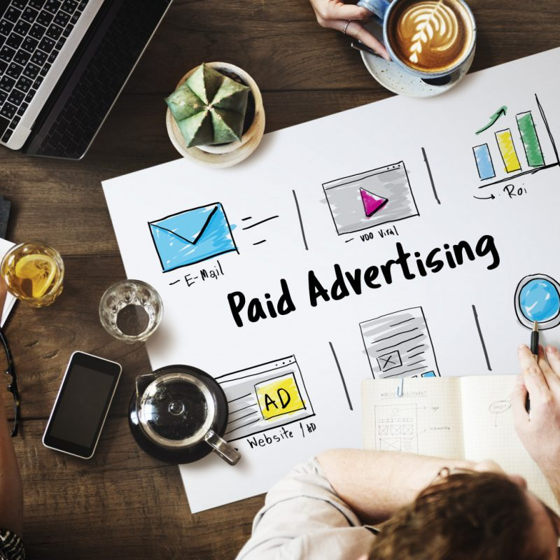 people working in paid advertising